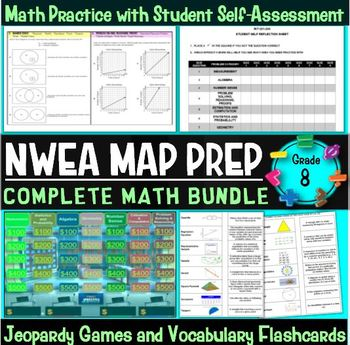 NWEA MAP Prep Math 8th Grade Bundle