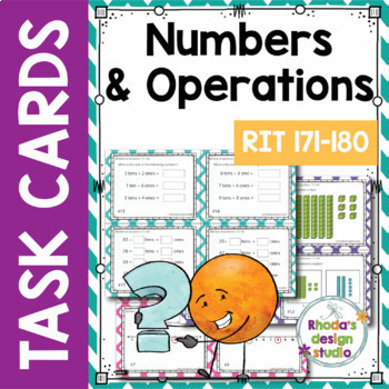 NWEA MAP Prep Math Practice Task Cards RIT Band 171-180 Intervention Bundle