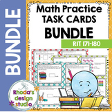 MAP Prep Math Practice Task Cards RIT Band 171-180 Intervention Bundle