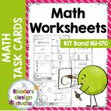 NWEA MAP Prep Math Practice Worksheets RIT Band 161-170 Di