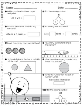 NWEA MAP Prep Math Practice Worksheets RIT Band 171-180 Interventions