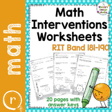 Test Prep Math Worksheets RIT Band 180-191 Interventions