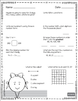 NWEA MAP Prep Math Practice Worksheets RIT Band 181-190 Interventions