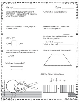 NWEA MAP Test Prep Math Worksheets RIT Band 191-200 Interventions