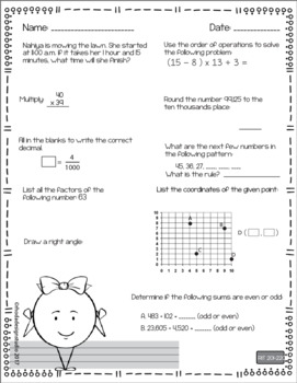 NWEA MAP Prep Math Practice Worksheets RIT Band 201-220 Interventions