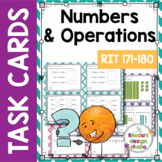 NWEA MAP Prep Numbers and Operations Math Task Cards RIT Band 171-180