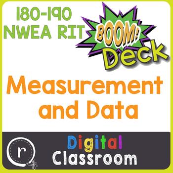 NWEA MAP Prep Measurement & Data RIT Band 181-190 Boom Learning Deck Paperless