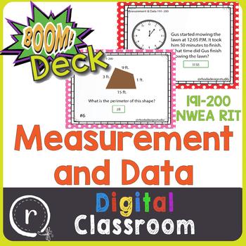 NWEA MAP Prep Measurement & Data RIT Band 191-200 Boom Learning Deck Paperless