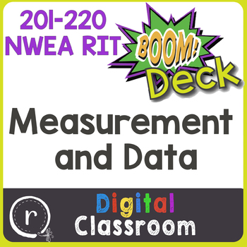 NWEA MAP Prep Measurement & Data RIT Band 201-220 Boom Learning Deck Paperless