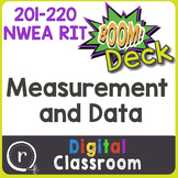 Standardized Test Prep Measurement & Data RIT Band 201-220 Boom Deck Paperless