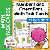 NWEA MAP Prep Numbers and Operations Math Task Cards RIT Band 161-170