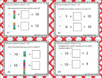 NWEA MAP Prep Operations & Algebraic Thinking Math Task Cards RIT Band 171-180