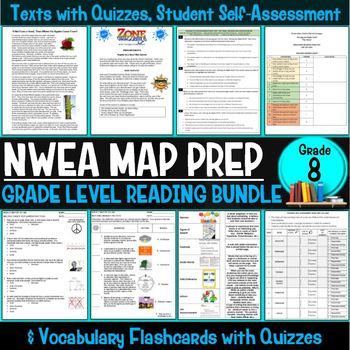 NWEA MAP Prep Reading Bundle Eighth Grade