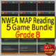 NWEA MAP Eighth Grade Reading Test Prep Practice Tests and Games Bundle!