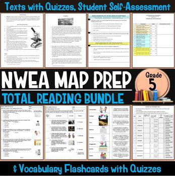 NWEA MAP Prep Reading Bundle Fifth Grade