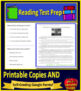 NWEA MAP Fourth Grade Reading Test Prep Practice Tests and Games Bundle!