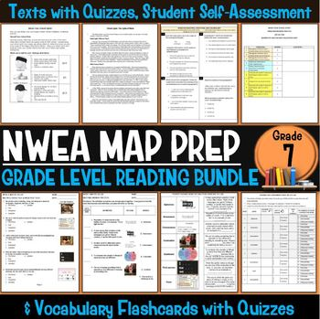NWEA MAP Prep Reading Bundle Seventh Grade