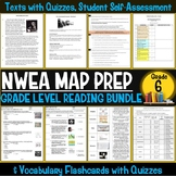 NWEA MAP Prep Reading Bundle Sixth Grade