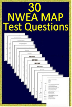 NWEA MAP Sixth Grade Reading Test Prep Practice Tests and Games Bundle!