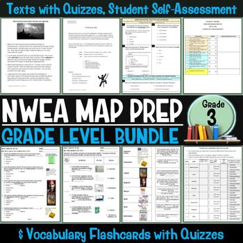 NWEA MAP Prep Reading Bundle Third Grade
