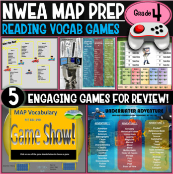 End of year No Prep NWEA MAP Prep Reading Games 4th Grade RIT 191-200