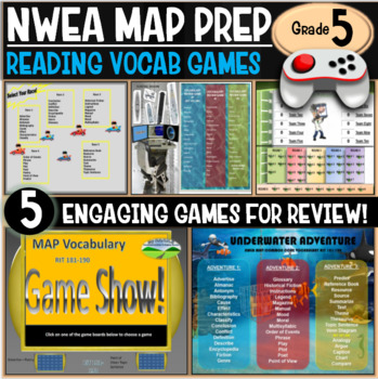 End of year No Prep NWEA MAP Prep Reading Games 5th Grade RIT 201-210