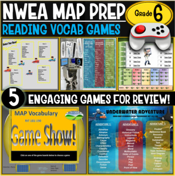 End of year No Prep NWEA MAP Prep Reading Games 6th Grade RIT 211-220