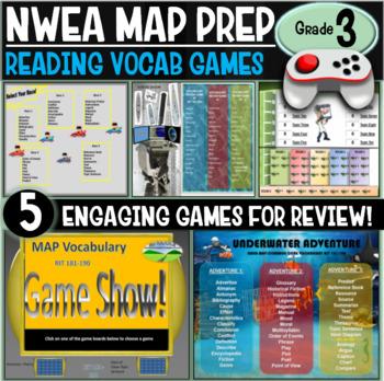 NWEA MAP No Prep Reading Games 3rd Grade RIT 181-190