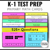 NWEA MAP Prep Testing Practice Primary Math  Cards