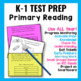NWEA MAP Testing Practice Primary Reading Quick Question Cards