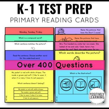 NWEA MAP Reading Test Prep Practice Primary Cards By Positively - Map testing