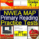 NWEA MAP Primary Reading Test Prep Tests K - 2 RIT Band 161 - 190 Google Ready!