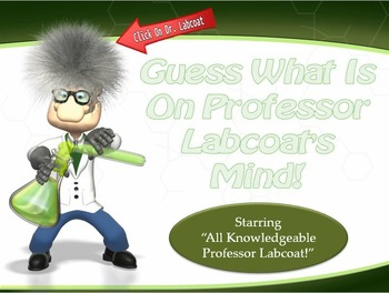 MAP TEST READING VOCABULARY GAME - Professor Labcoat (ALL