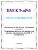 NWEA MAP-R (Reading) Scores, Class Recording Spreadsheet