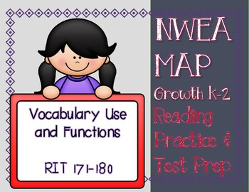 NWEA MAP READING PRACTICE & PREP Vocabulary Use & Functions RIT Range 171-180