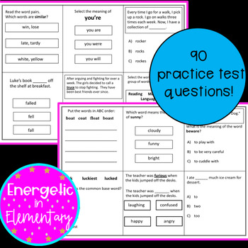 NWEA MAP RIT Reading Vocabulary RIT Range 161-170  Practice Questions!