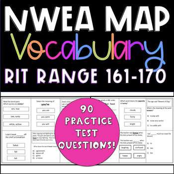 NWEA MAP Test Prep Vocabulary RIT Range 161-170  Practice Questions