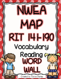 NWEA MAP Reading Academic Vocabulary Word Wall RIT 141-190