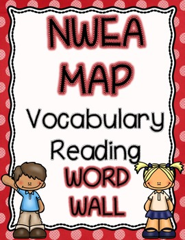 NWEA MAP Reading Academic Vocabulary Word Wall RIT 141-250, Color Coded