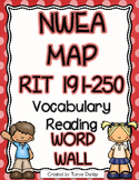 NWEA MAP Reading Academic Vocabulary Word Wall RIT 191-250