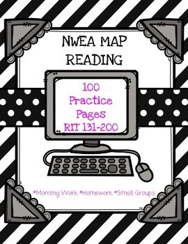 NWEA MAP Reading Bundle: Practice Pages RIT 120-200