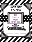 NWEA MAP Reading Bundle: Practice Pages RIT 131-200-Distan