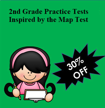 NWEA MAP Inspired 2nd Grade Bundle:  6 Practice Tests for Reading and Math!
