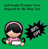 MAP Inspired 2nd Grade Bundle: 6 Practice Tests for Reading and Math +++!