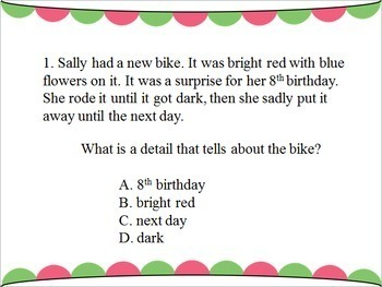 NWEA/MAP Inspired Reading Comprehension Test Prep PowerPoint