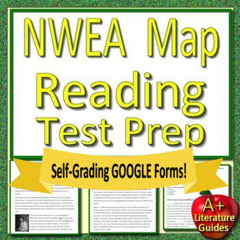 7th Grade NWEA MAP Reading Test Prep Bundle for Language Arts ELA