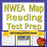 8th Grade NWEA MAP Reading Test Prep ELA - Printable & SELF-GRADING GOOGLE FORMS