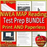 NWEA MAP Reading Test Prep Grades 6, 7 & 8 Printable + SELF-GRADING GOOGLE FORMS