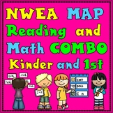 NWEA MAP Reading and Math Practice Bundle:  Kinder and Fir