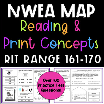 NWEA MAP Reading and Print Concepts - RIT RANGE 161-170 Practice Questions